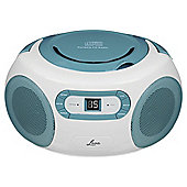 Lava CD Boombox w/ FM/AM Radio and Aux In, Teal