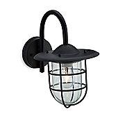 Firstlight Cage 1 Light Wall Light - Black