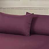 Brentfords Plain Dye Pillowcase, Pair - Purple