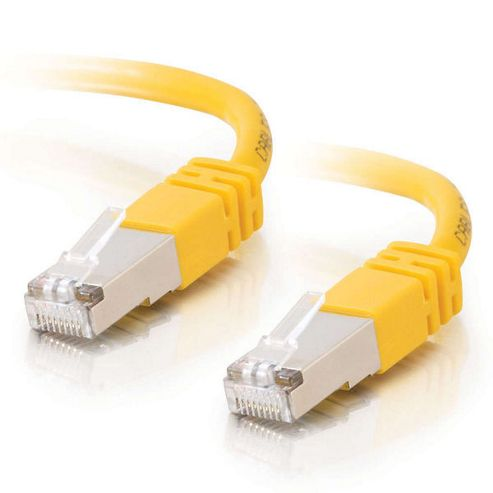 Cables to Go Shielded 2 m Cat5e Moulded Patch Cable - Yellow