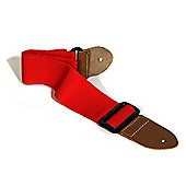 Soldier Adjustable Webbing Guitar Strap and 3 Plectrums - Red