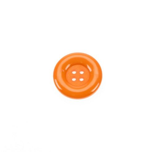 Dill Buttons 23mm Round - Orange