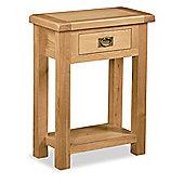 Zelah Oak Telephone Table - Rustic Oak