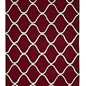 Think Rugs Elements Red Tufted Rug - 150 cm x 230 cm (4 ft 11 in x 7 ft 7 in)