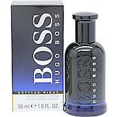 Hugo Boss Boss Bottled Night Aftershave 50ml Splash For Men