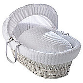 Clair de Lune White Wicker Moses Basket (Marshmallow White)