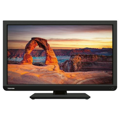Toshiba 24W1333B 24 Inch HD Ready 720p LED TV With Freeview