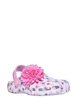 F&F Butterfly Print Clogs - Pink