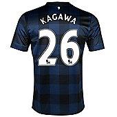 2013-14 Man United Away Shirt (Kagawa 26) - Kids - Blue