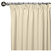 Faux Silk Lined Pencil Pleat Curtains - Ivory
