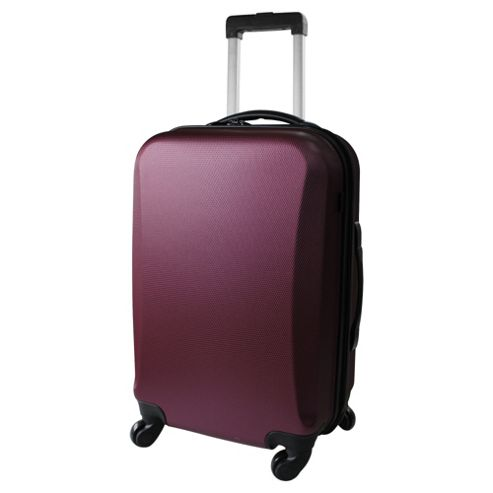 Tesco Hard Shell 4-Wheel Suitcase, Purple Medium