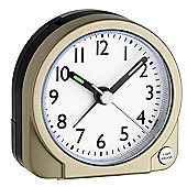 Green Wash Analogue Snooze Alarm Clock - Gold