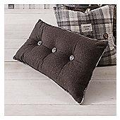 Gallery Button Cushion - Grey