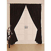Como Ready Made Lined Curtains - Black