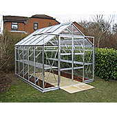 Rhino Premium Greenhouse 8x10 Natural Aluminium Finish
