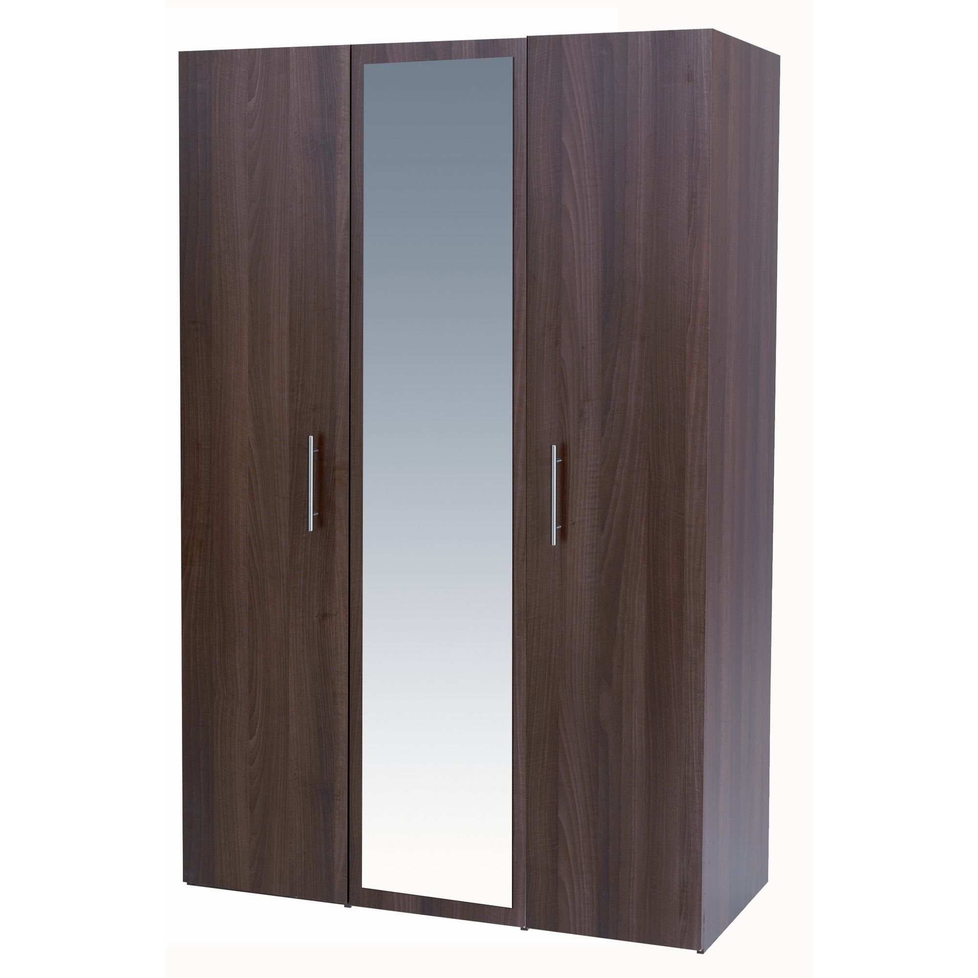 Alto Furniture Mode Three Door Wardrobe in Walnut at Tesco Direct