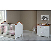 Obaby B is for Bear Cot Bed, Drawer and Closed Changer