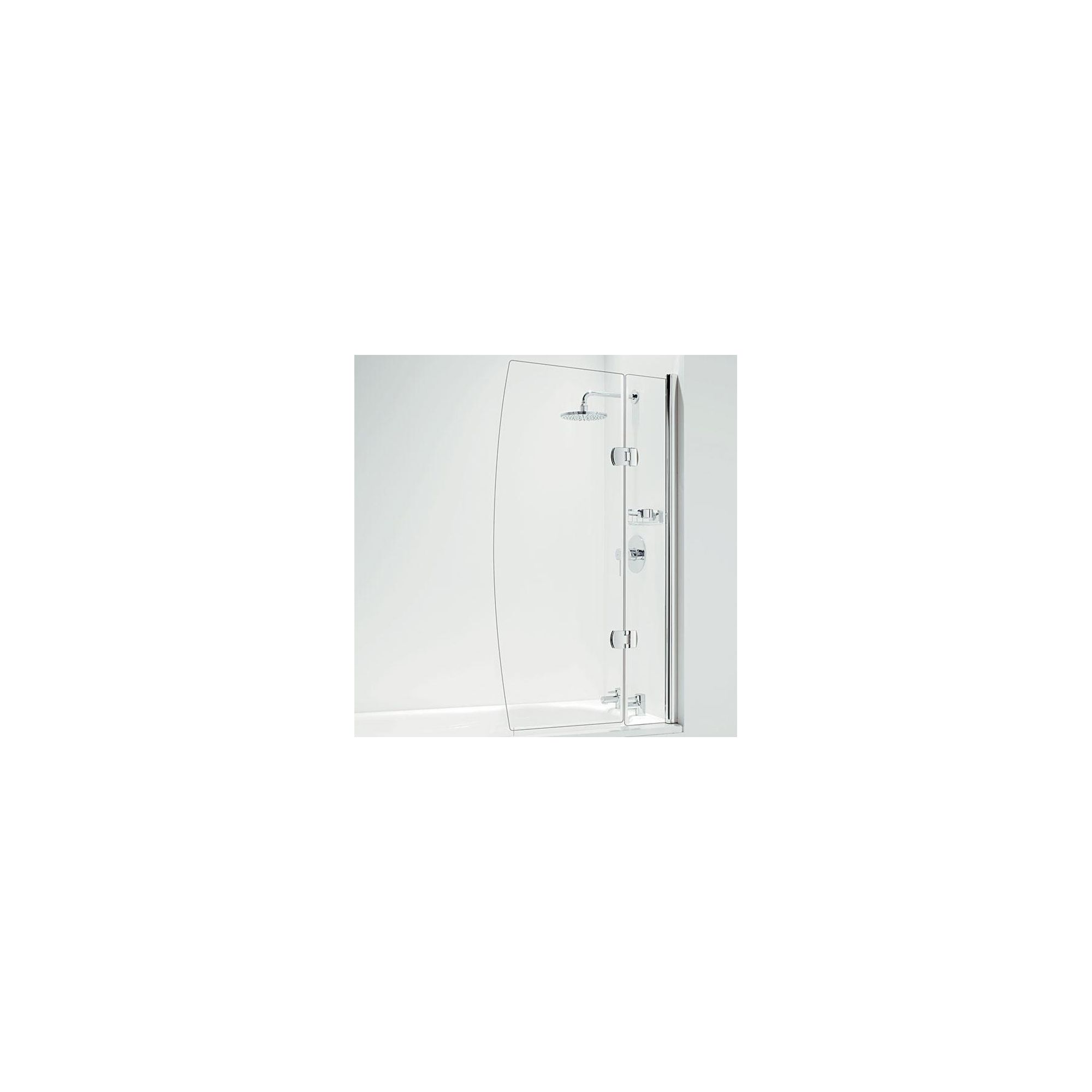 Coram Designer Hinged D Shape Bath Screen 1400mm High x 800mm Wide - 5mm Glass at Tesco Direct