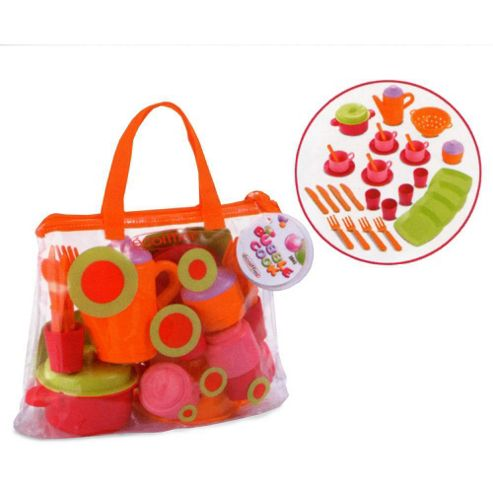 Ecoiffier 2640 play kitchen dinnerware set with bag