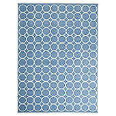 Lorena Canals Aros Blue and Beige Children's Rug - 120 cm W x 160 cm D (3 ft 11 in x 5 ft 3 in)