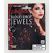 Bristol Novelty - Jewelled Vampiress Blood Drops