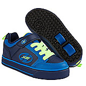 Heelys Thunder Navy/Royal/Neon Yellow X2 Heely Shoe - Navy