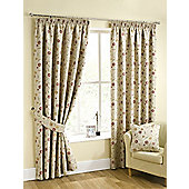Isabella Pencil Pleat Curtains, Chintz 117x229cm
