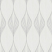 Superfresco Optimum Geometric White/Silver Wallpaper