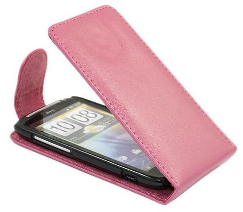 Pink FlipMatic Easy Clip On Vertical Pouch Case - HTC Sensation