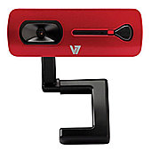 V7 Elite (2.0MP) 2000 Webcam (Red/Black)