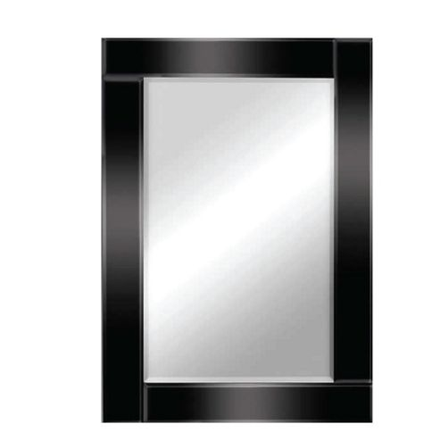 Buy total mirrors 120 x 80 cm rectangle mirror in black for Miroir 120x80