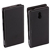 Sony Original Leather Flip Case for Sony Xperia U - Black