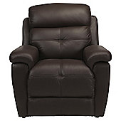 Leather Power Lift Recliner Chair Brown