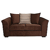 Toronto Fabric Small Sofa Chocolate