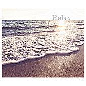 Ocean Scene Relax Glitter Canvas 50 x 60cm