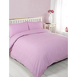 Oxford Stripe Pink Duvet Cover Set - Single