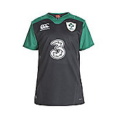 Canterbury Ireland IRFU Alternate Kids Non RWC S/S Pro Jersey 15/16 - Black