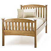 Serene Furnishings Eleanor High Foot End Bed - Honey Oak - Single