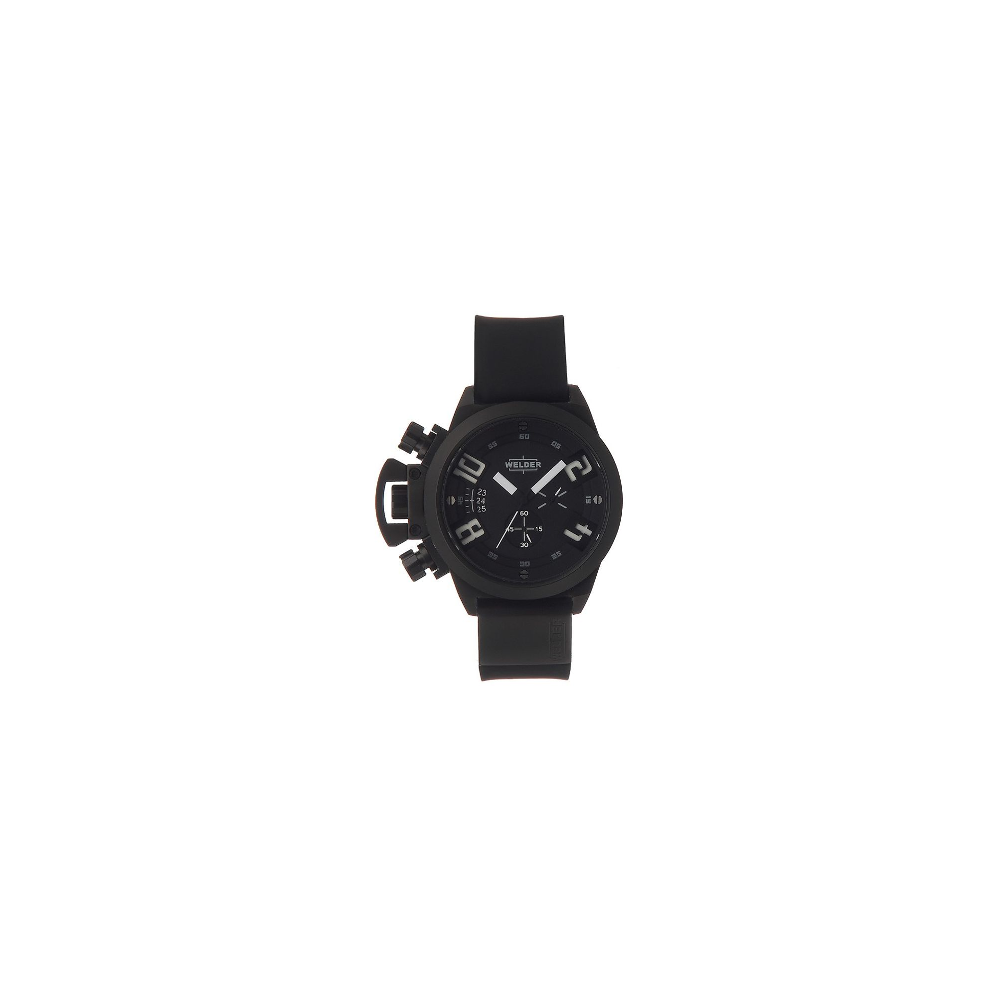 Welder Gents Black Dial Black Rubber Strap Watch K24-3301 at Tesco Direct