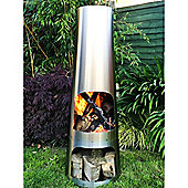 Cone Chimenea Large - Stainless Steel