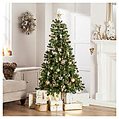 Tesco Western Pine Pre-Lit Christmas Tree, 6ft