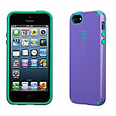 iPhone 5 and iPhone 5s CandyShell Grape Purple/Malachite Green