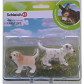 Schleich Farm Babies Set - Golden Retriever and Dalmatian Puppy