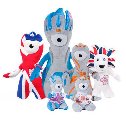 London 2012 6 Soft Toy Value Bundle