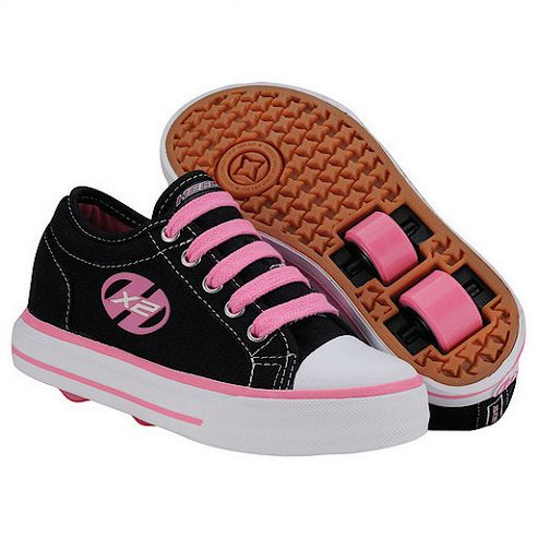 Heelys Jazzy Black and Pink Skate Shoes - Size 5
