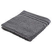 Tesco Egyptian Cotton Face Cloth, Charcoal