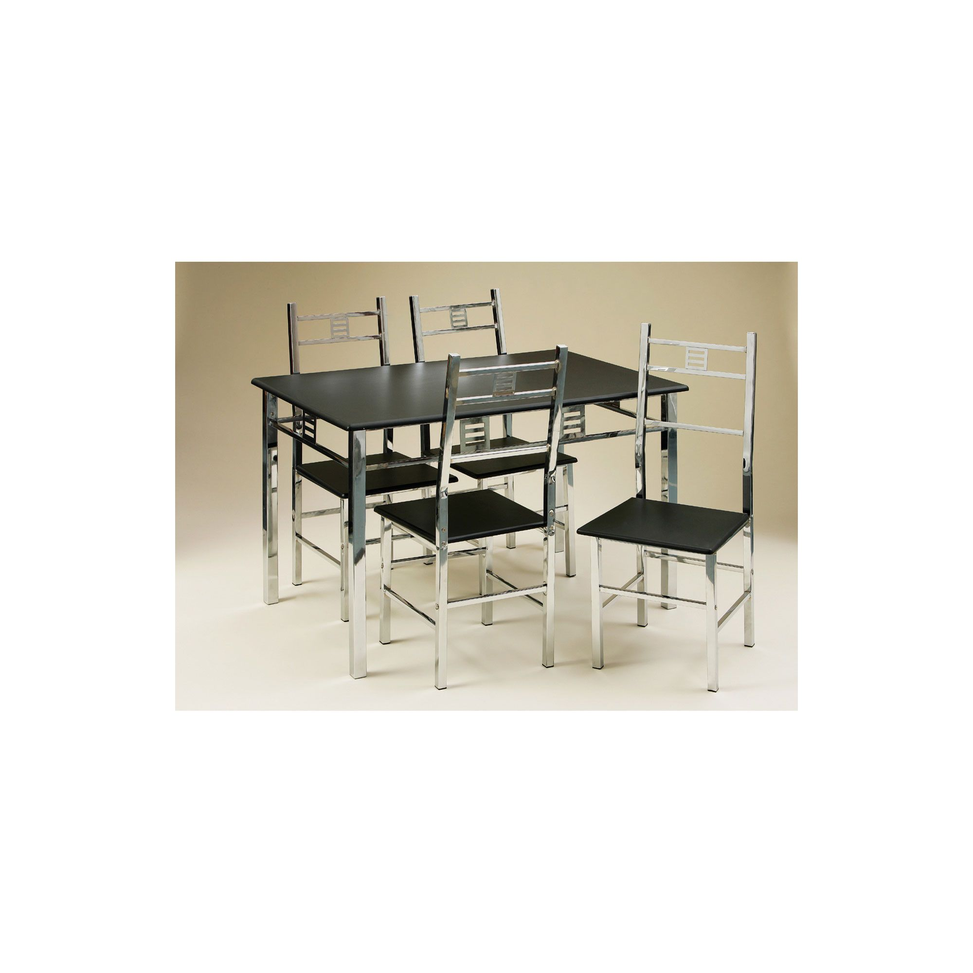 Premier Housewares Dining Set with Triple Chrome Frame at Tesco Direct