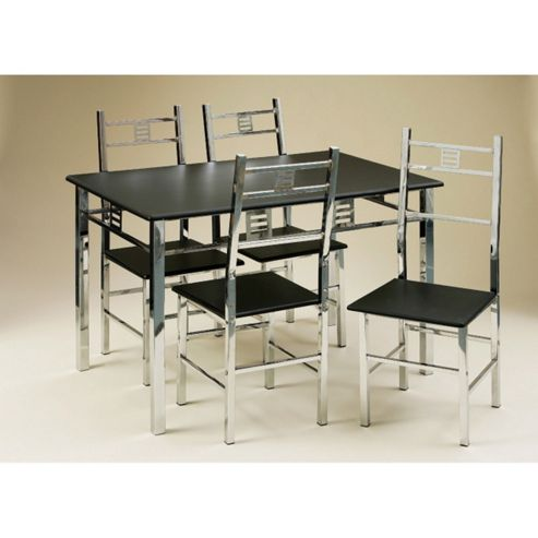Premier Housewares Dining Set with Triple Chrome Frame