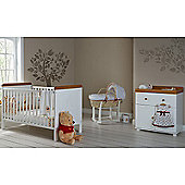 Obaby Winnie the Pooh Cot Bed and Closed Changer Room Set