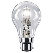 Philips EcoClassic Halogen A55 42 W B22 Bayonet Cap Warm White Light Bulb